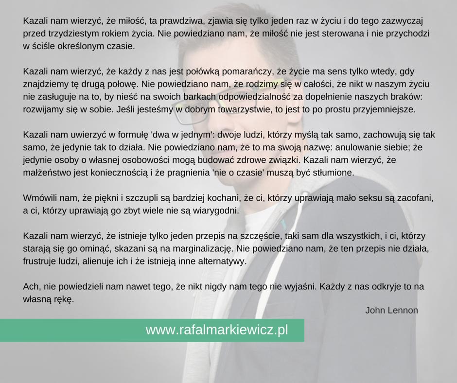 Rafał Markiewicz - coach - prawdy i schematy