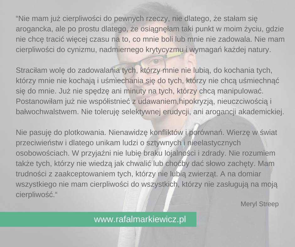 Rafał Markiewicz - coach - granice