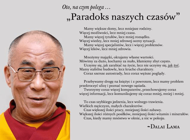 Rafał Markiewicz - coach - coaching - lifebalance - dalajlama - odhaczyć