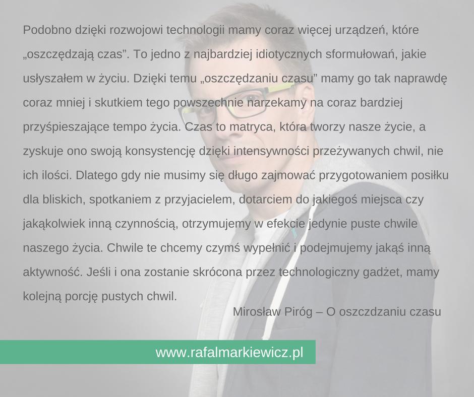 Rafał Markiewicz - coach - coaching - zbędny pośpiech
