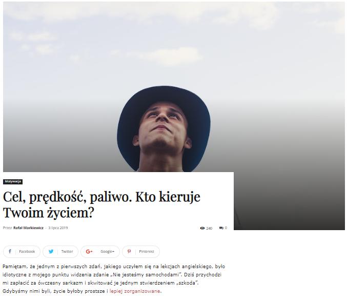 Rafał Markiewicz - coach - coaching - rozwój - osobisty - kto kieruje Twoim życiem
