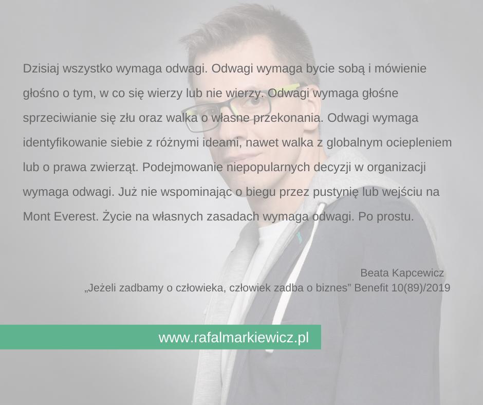 Rafał Markiewicz - coach - coaching - rozwój - osobisty - odwaga