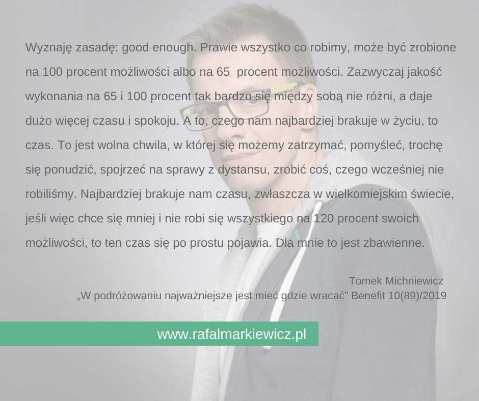 Rafał Markiewicz - coach - coaching - rozwój - osobisty - good enough